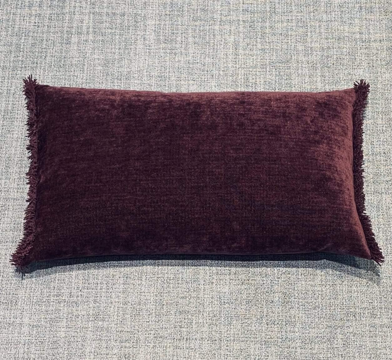 Cushion Bordeaux Nomad Luxe Chenille Cushion 12 x 20 inch