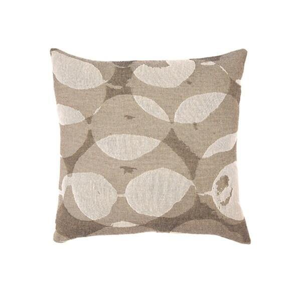 Sand Connected Dots Square Cushion