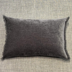 Cushion Graphite Nomad Luxe Chenille Cushion 16 x 20 inch