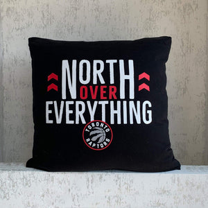 Raptors Cushion - North over Everything