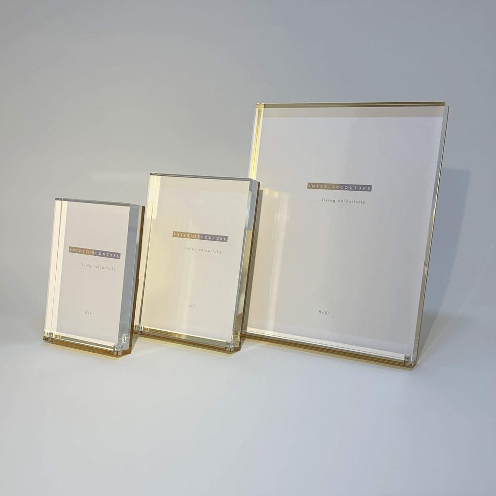 Frame Acrylic Clear and Gold Frame