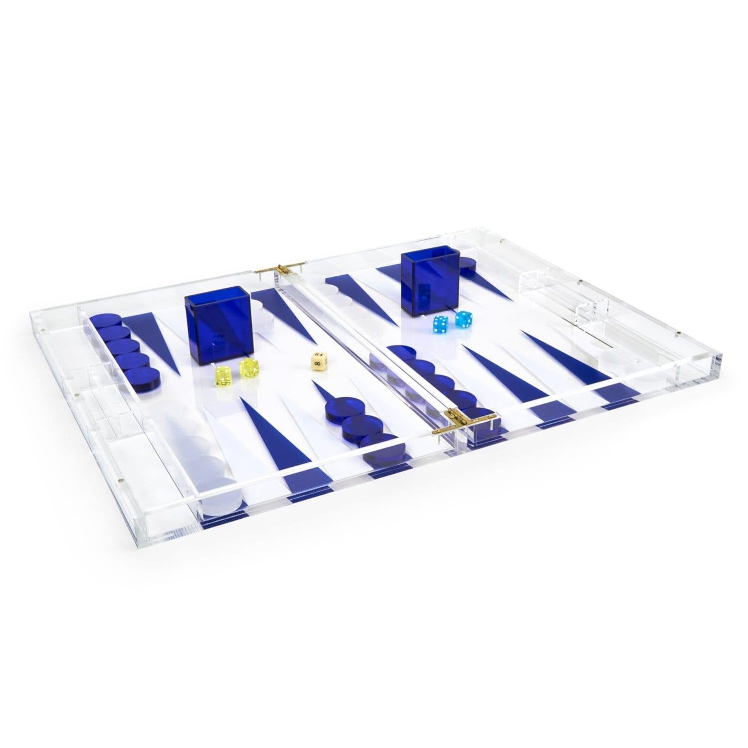 Ultramarine Acrylic Backgammon Game