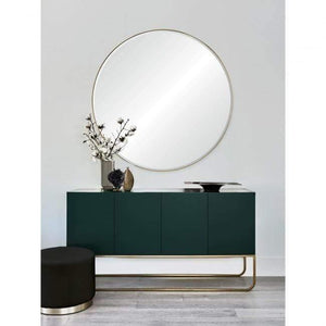 Gold Leaf Beveled Mirror