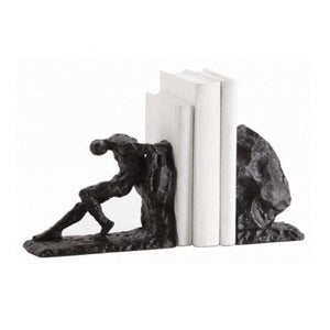 Overcome Bookends Statue