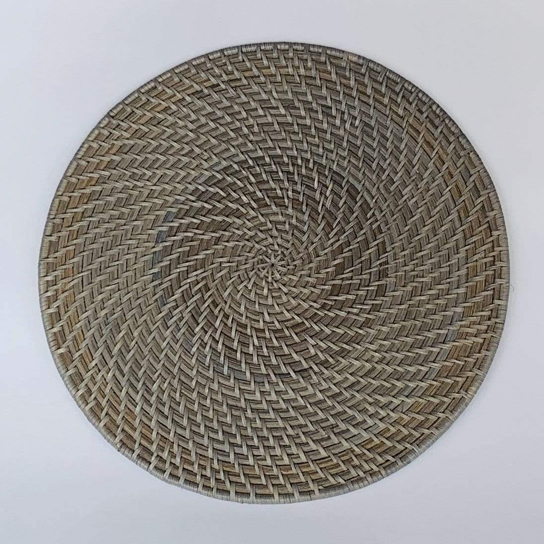 Table Grey Rattan Charger