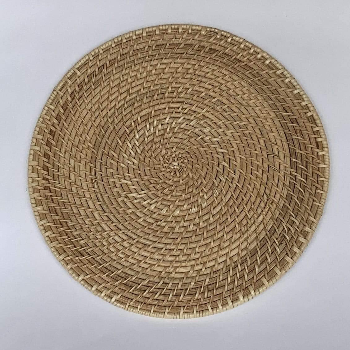Table Natural Rattan Charger
