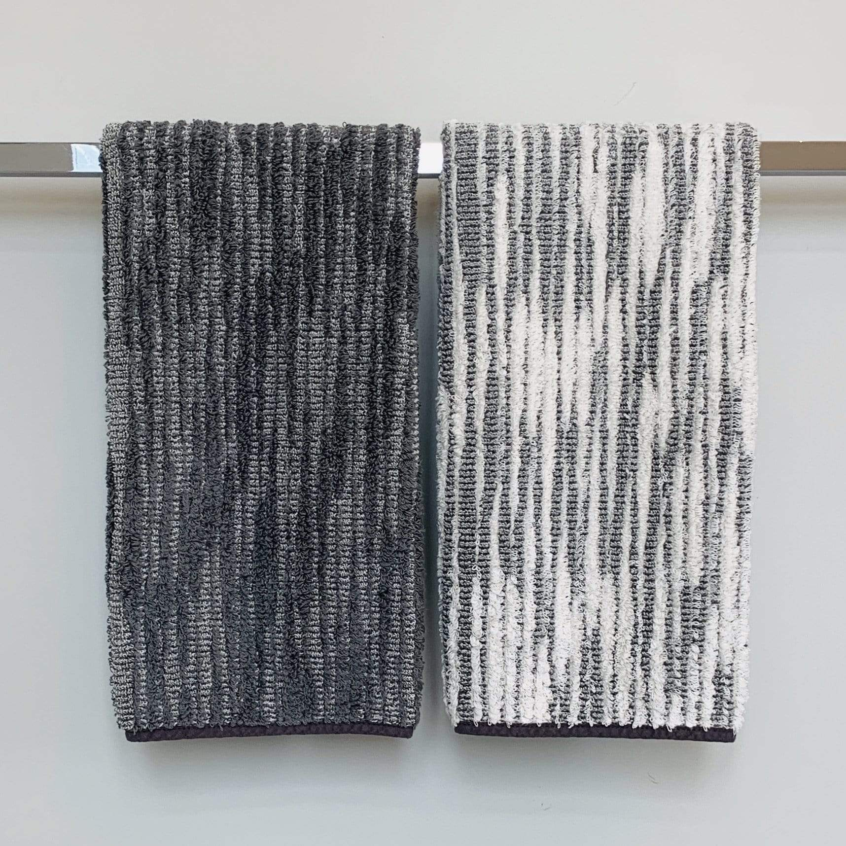 Towel Gris Abstract Stripe Cozi Towel