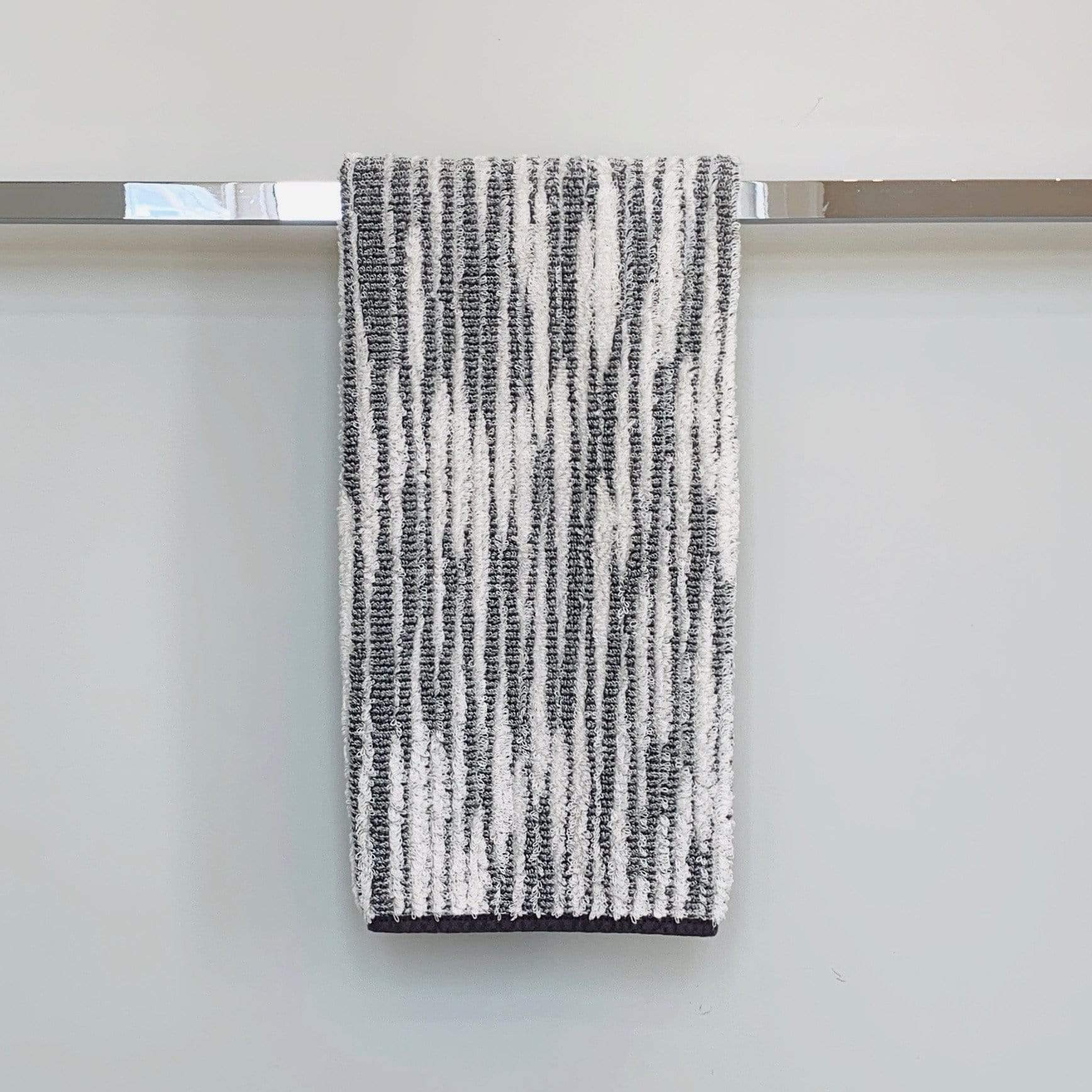 Towel Gris Abstract Stripe Cozi Towel Hand