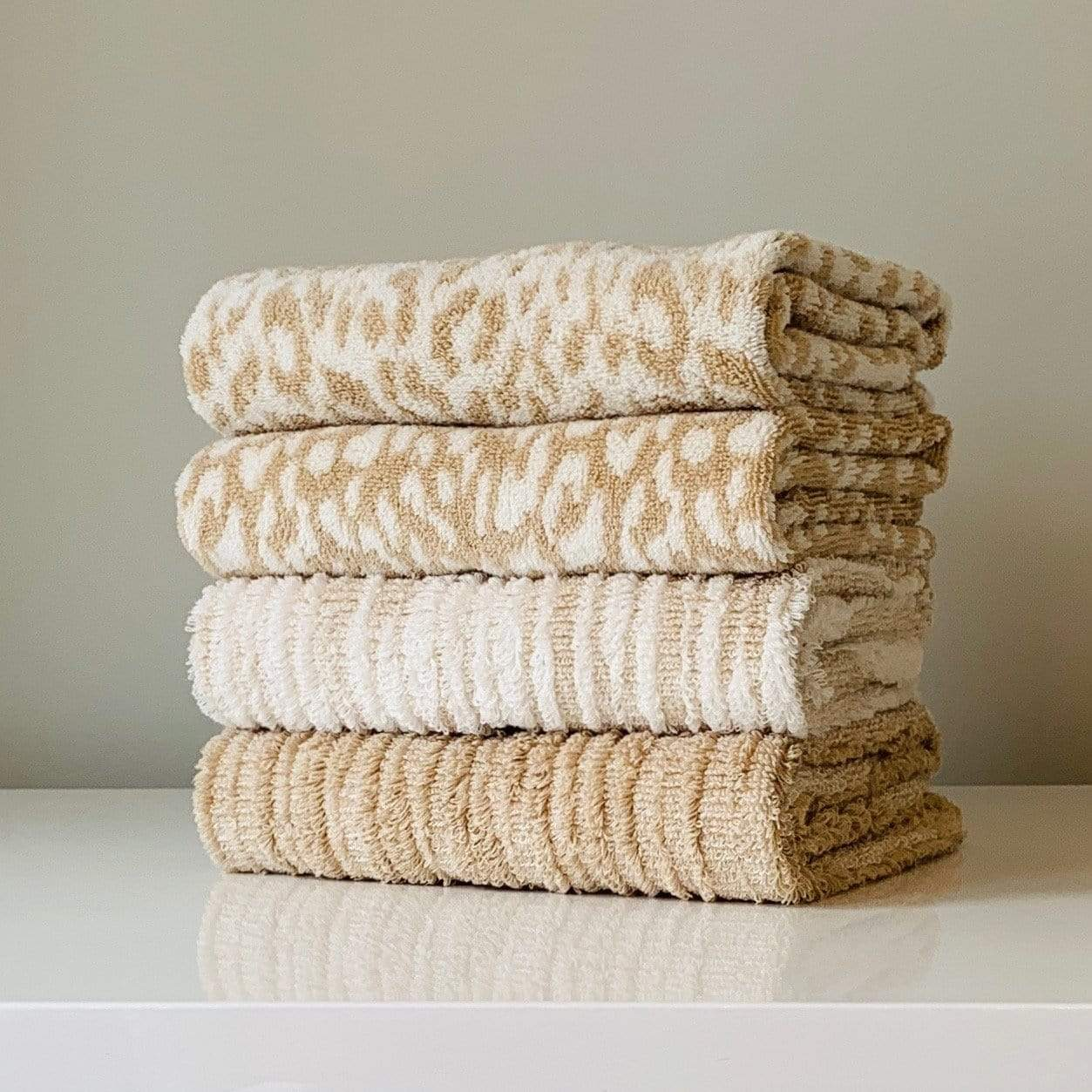 Linen Cheetah Zimba Towel
