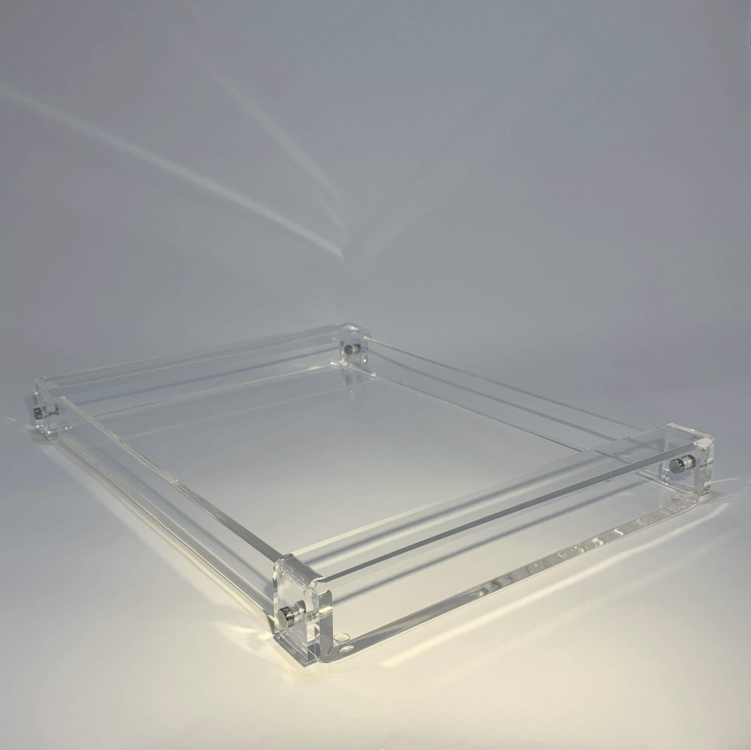 Acrylic Tray with  Clear Handles