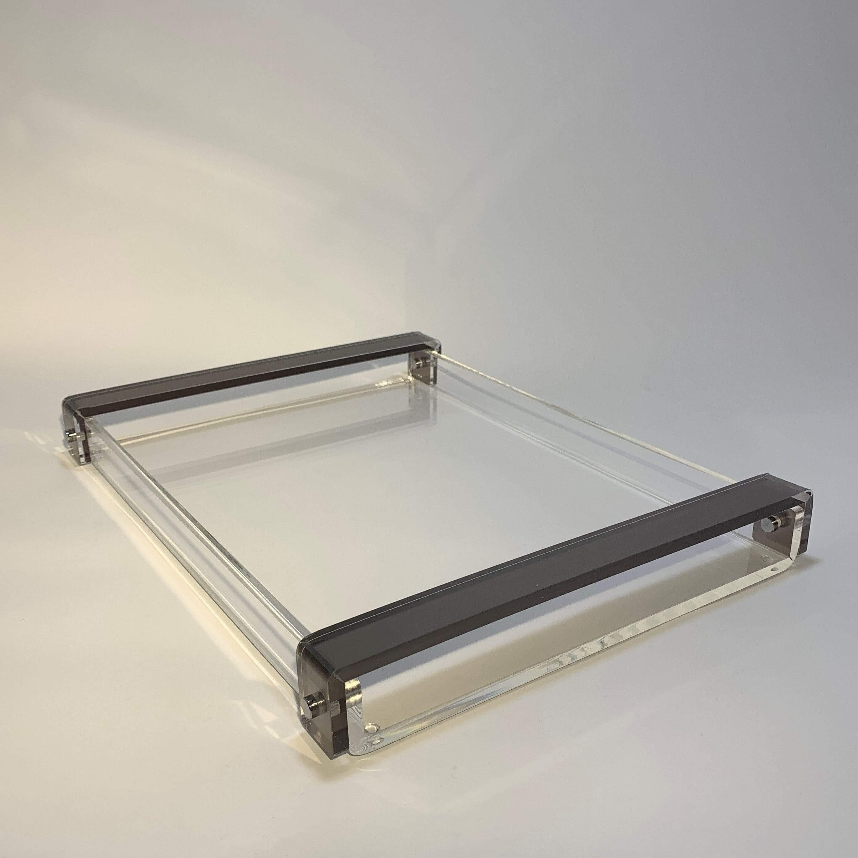 Acrylic Tray with Silver Handles