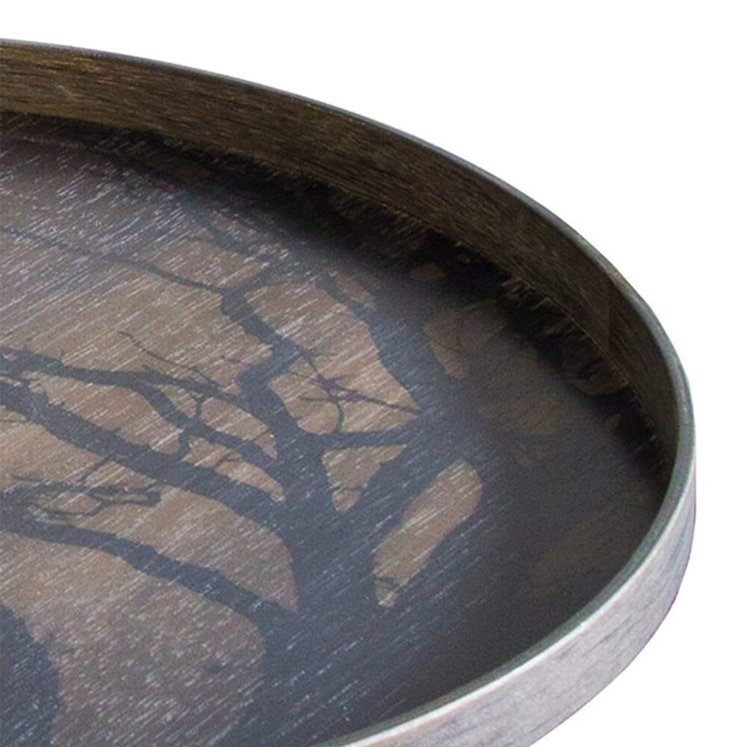 Black Tree Wooden Tray
