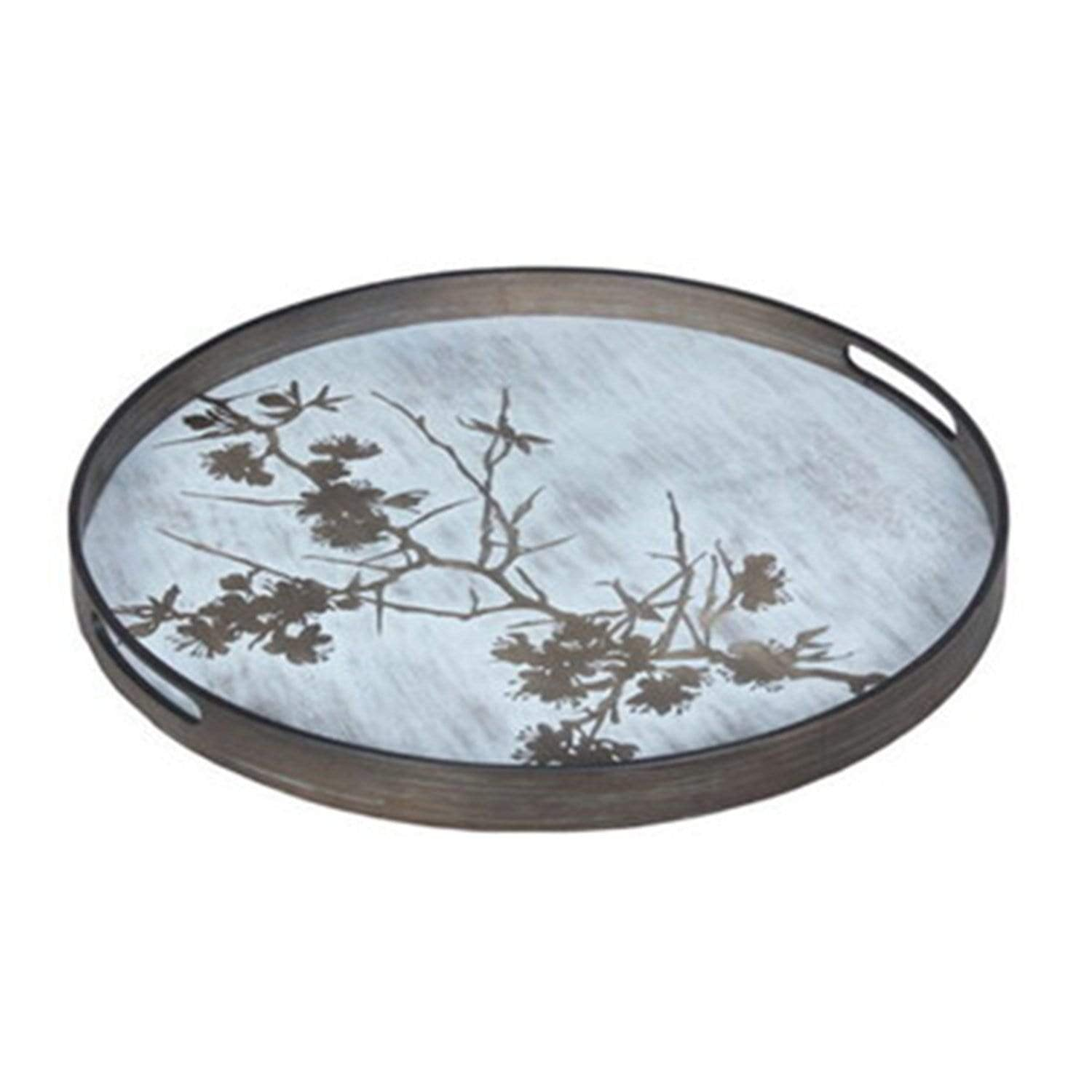 Tree Blossoms Wood Tray