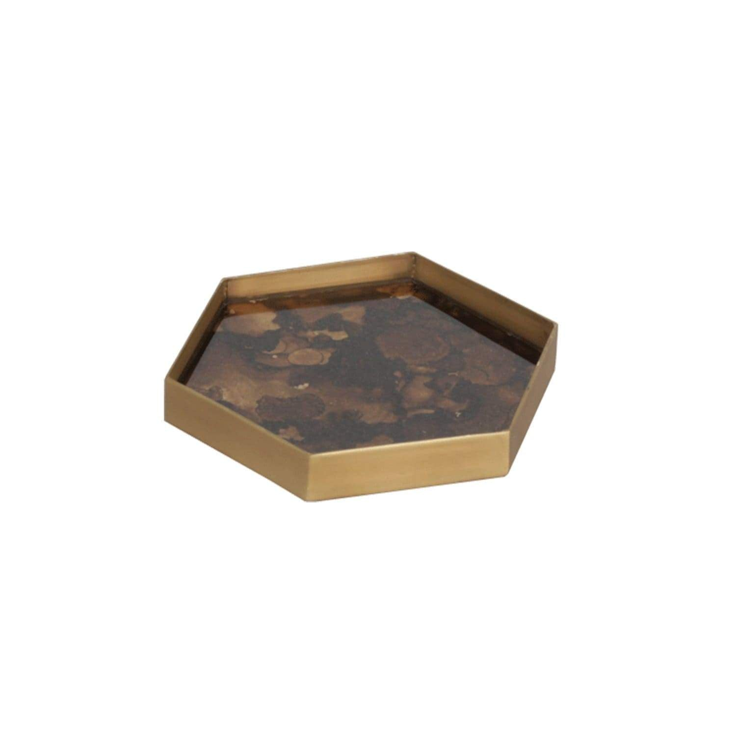 Tray Hexagon Tortoise Valet Tray