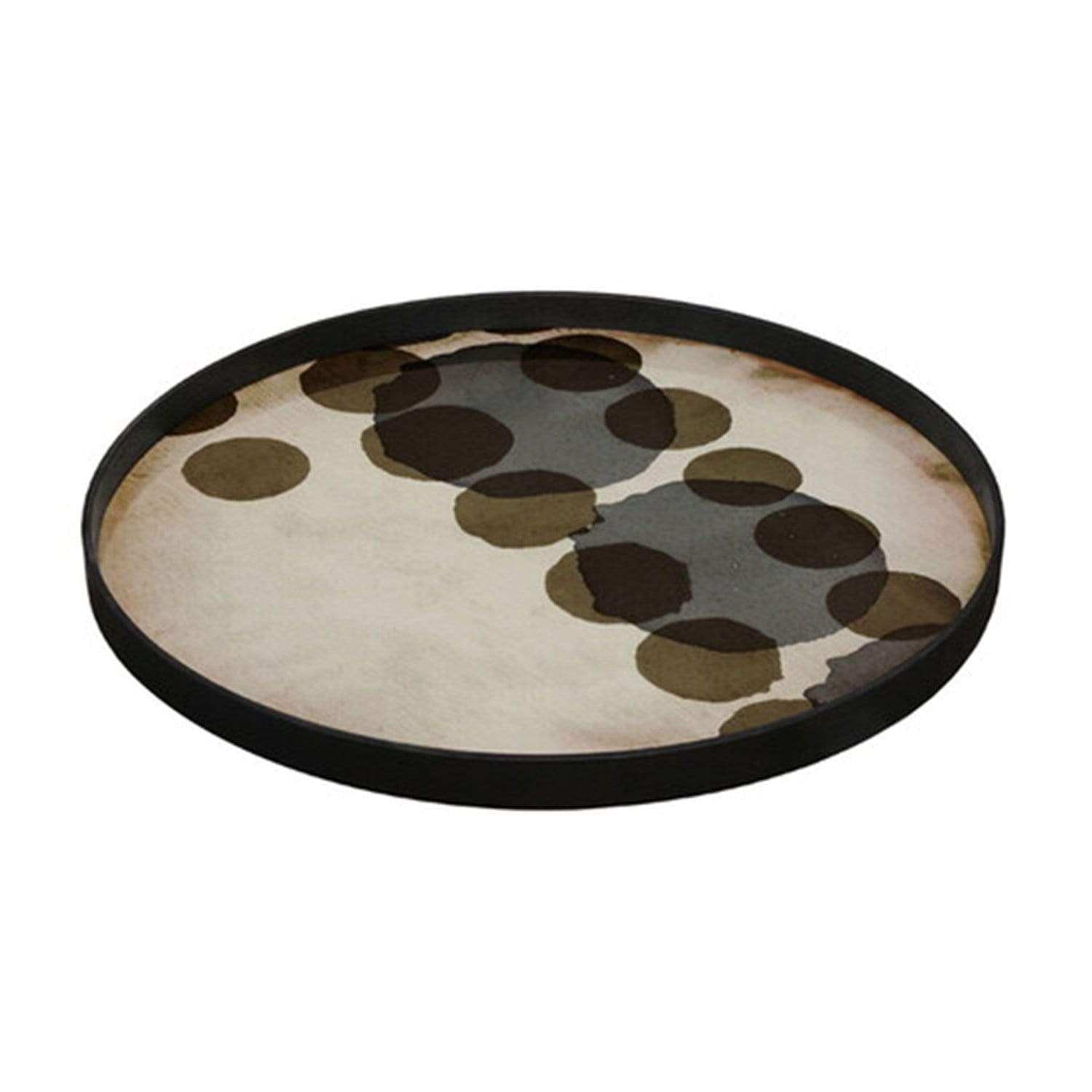 Tray Slate Layered Dots Glass Tray