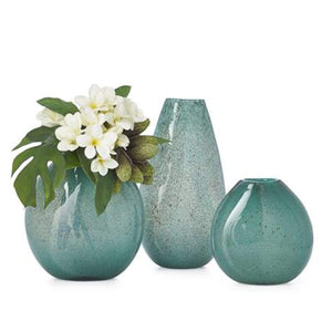 Teardrop Glass Vase - Teal