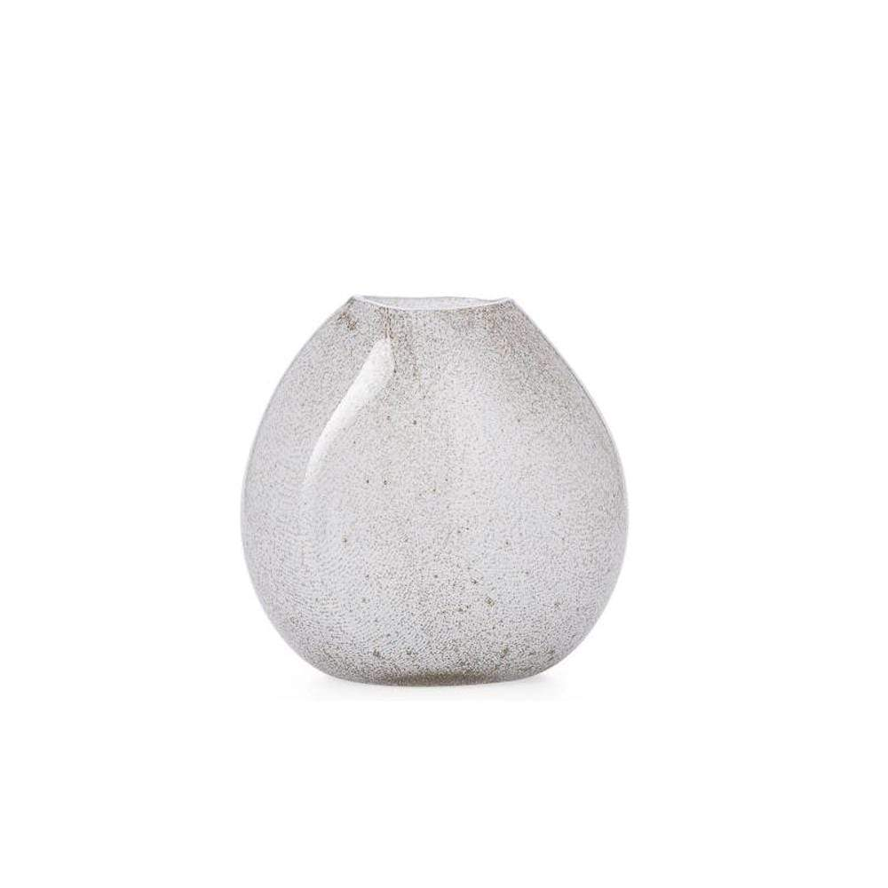 Teardrop Glass Vase - White