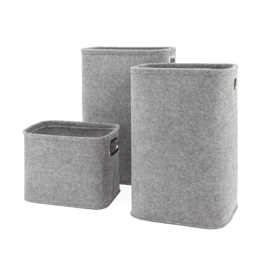 X-Tall Light Grey Felt Storage Tote