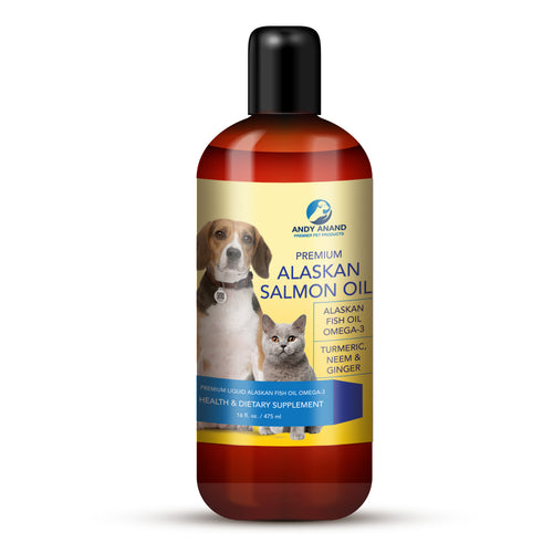 Premium Salmon Fish Oil Omega-3 for Dogs and Cats