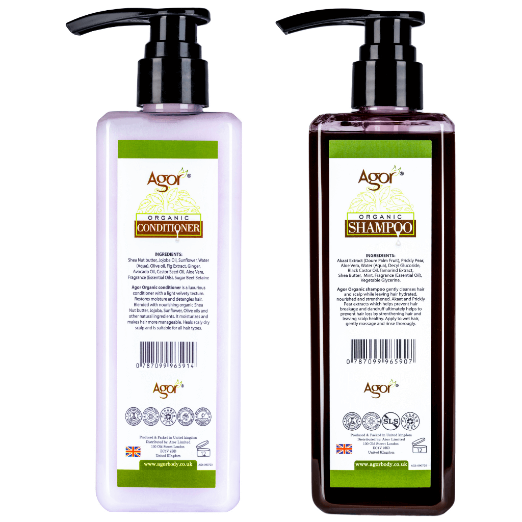Agor Organic Hair Shampoo & Conditioner Duo