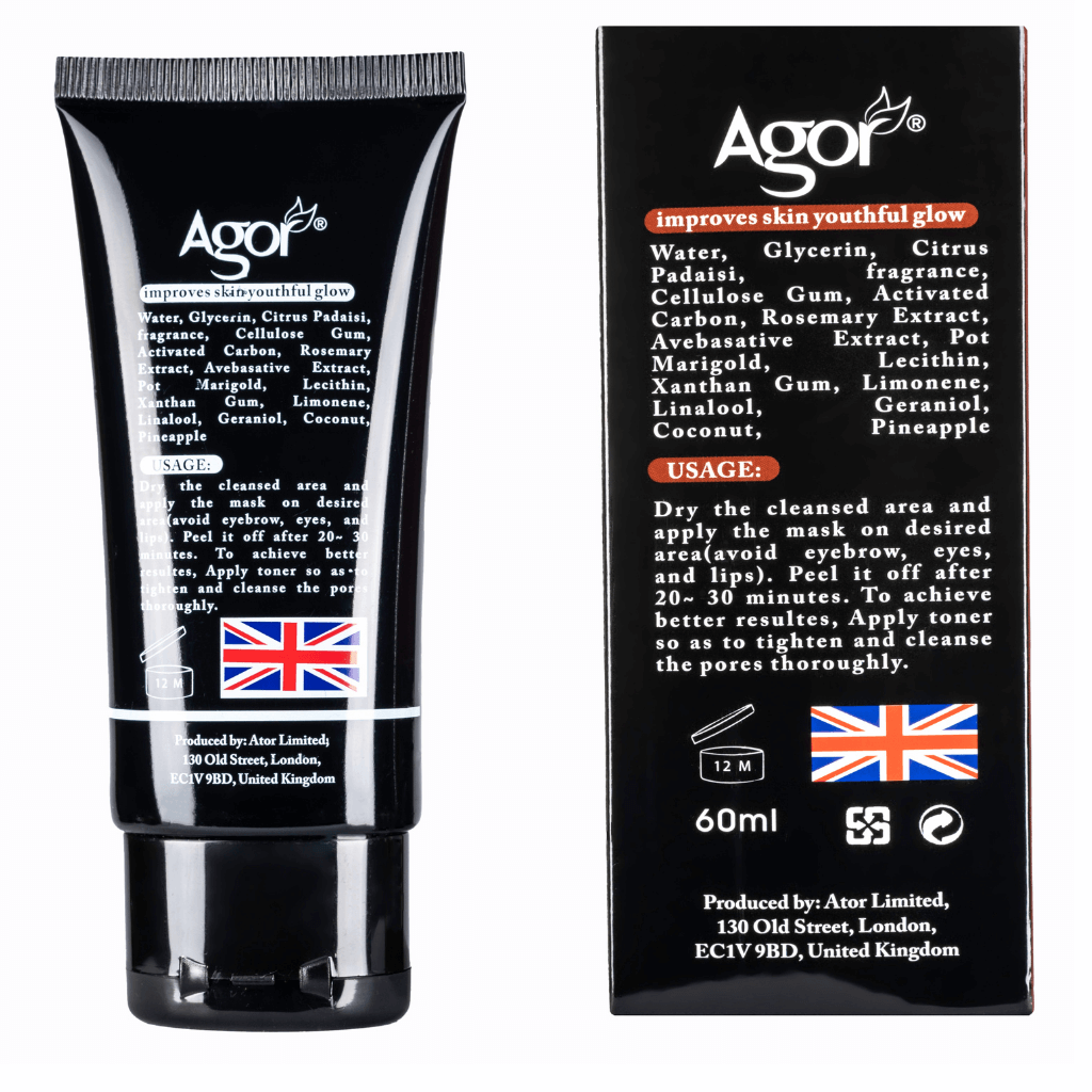 Agor Charcoal Peel-Off Black Mask (60ml)