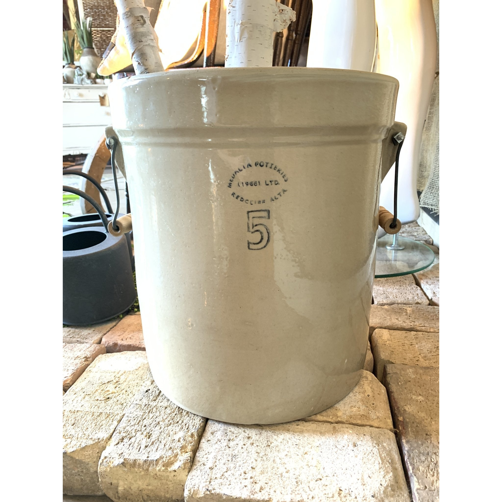5 Gallon Crock with Handles - Lady of the Lake