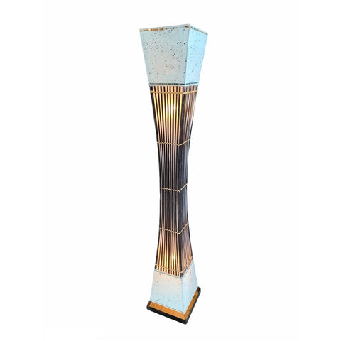 Bamboo & Tile Tall Floor Lamp - Lady of the Lake