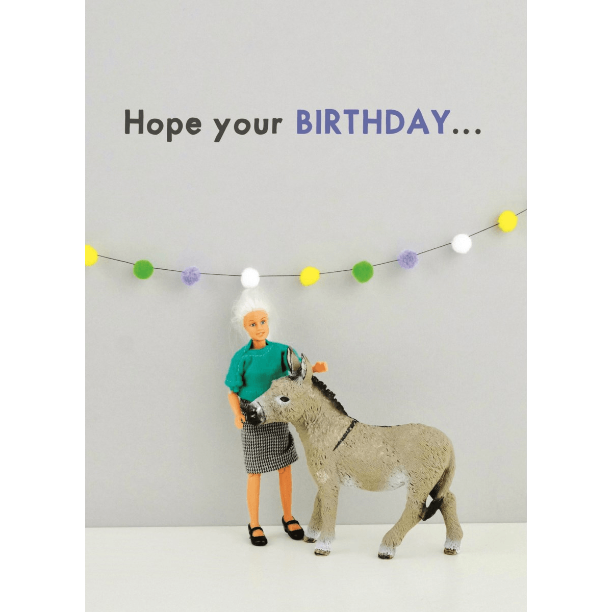 'Bday Arse' Humourous Greeting Card - Lady of the Lake