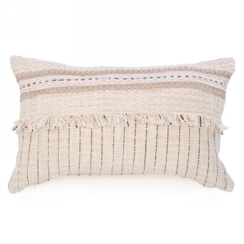 Beige Cushion with Fringe - Lady of the Lake