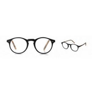 Black Brooklyn Reading Glasses (7 Powers from +1.25-+3.00) - Lady of the Lake