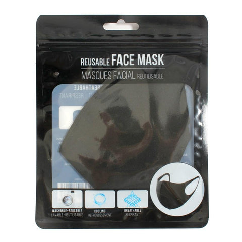 Black Reusable Face Mask - Lady of the Lake