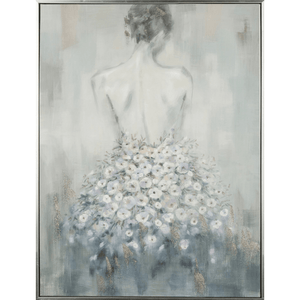 'Blossom Beauty' Oil Painting in Floating Frame with Glitter Detail - Lady of the Lake