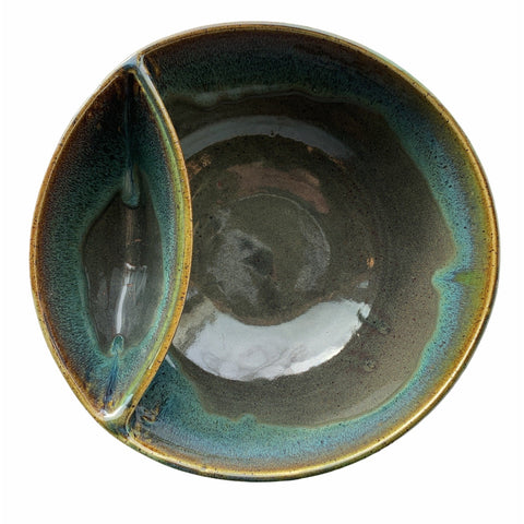 Blue Drip Pottery Chip & Dip Bowl - Lady of the Lake