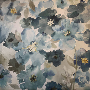 Blue Flowers On Canvas - Lady of the Lake