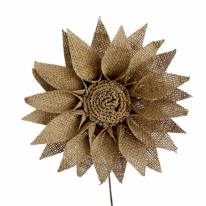 Burlap Sunflower - Lady of the Lake