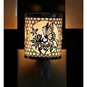 Butterfly & Flowers Night Light - Lady of the Lake