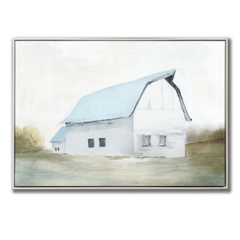 'By the Barn' Carvas Art with Embellished Texture in Floating Frame - Lady of the Lake