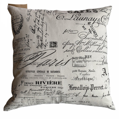 Cafe Script Accent Cushion - Lady of the Lake