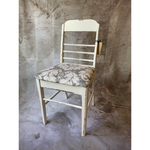 Chair with Grey & White Patterned Seat - Lady of the Lake