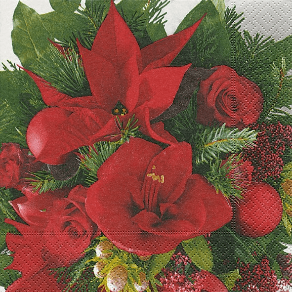 Christmas Bouquet - Paper Napkin - Lady of the Lake