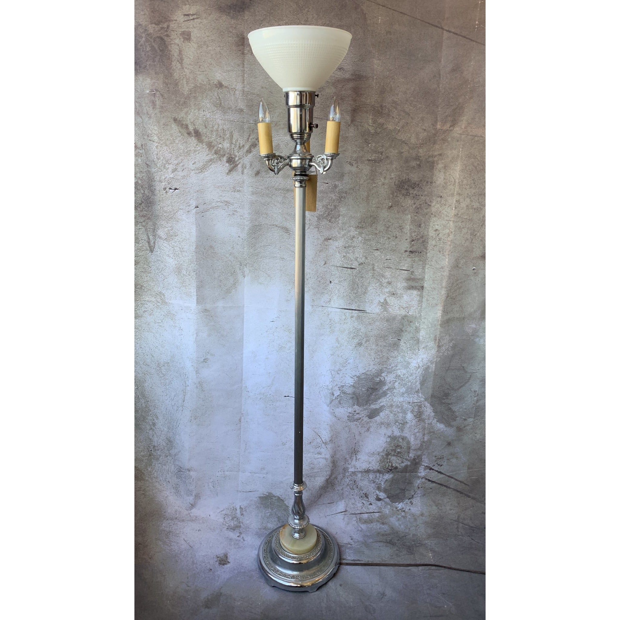Chrome Torchiere Lamp - Lady of the Lake