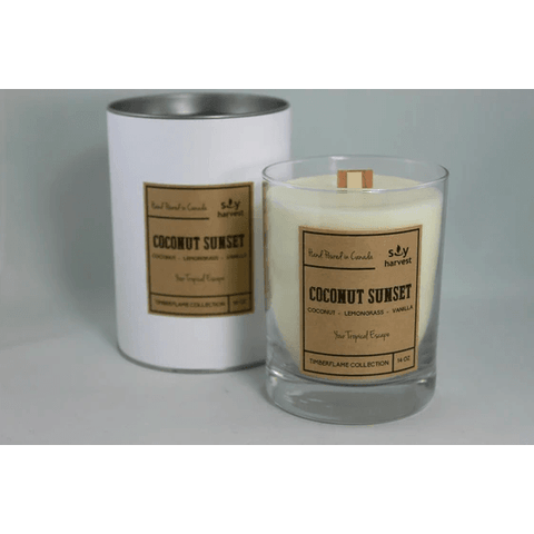 Coconut Sunset Timberflame Candle - Lady of the Lake