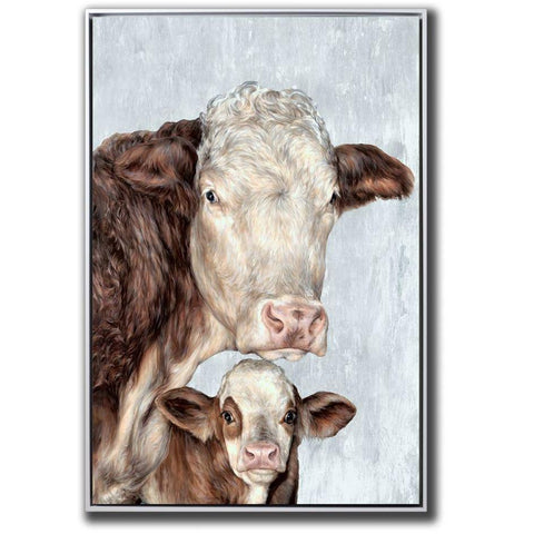 Cow Family - Hand Embellished Canvas - Lady of the Lake