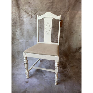 Diamond Back Chair with Linen Seat - Lady of the Lake