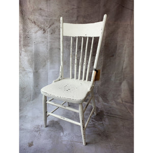 Distressed White Chair - Lady of the Lake