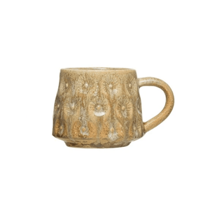 Earthy Brown and Yellow Glazed Mug - Lady of the Lake