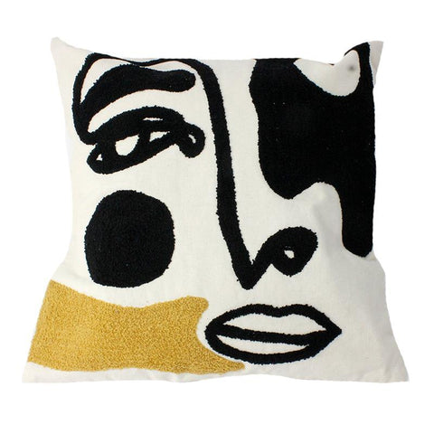 Embroidered Face Pillow - Lady of the Lake