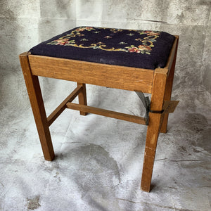 Embroidered Stool - Lady of the Lake