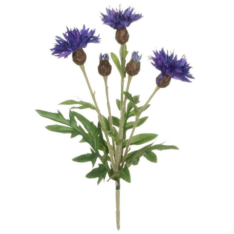 Faux Centaurea Bush - Purple - Lady of the Lake