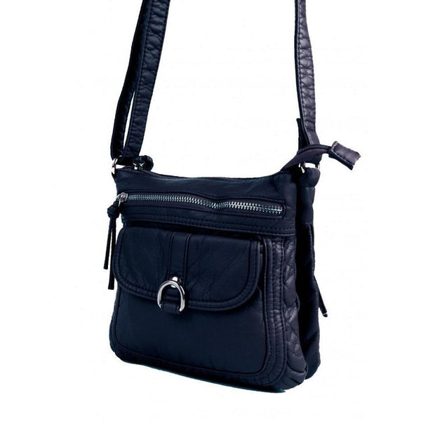 Faux Leather Satchel with Multi Pocket - Lady of the Lake